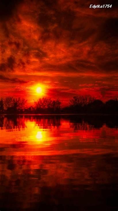 Sunset Screensavers Mobile Smoke