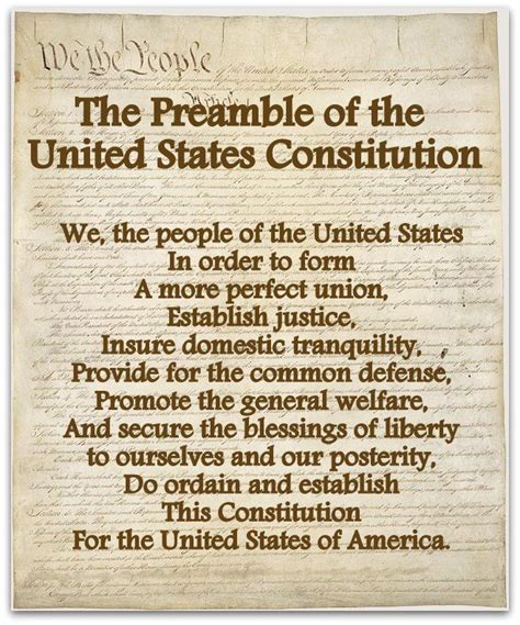 Preamble Of The United States Constitution Preamble