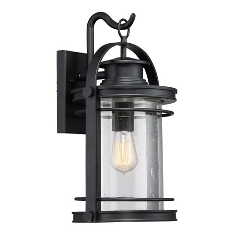 quoizel lighting booker mystic black outdoor wall light