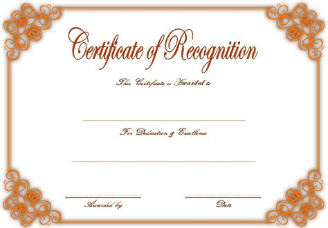 downloadable certificate  recognition templates