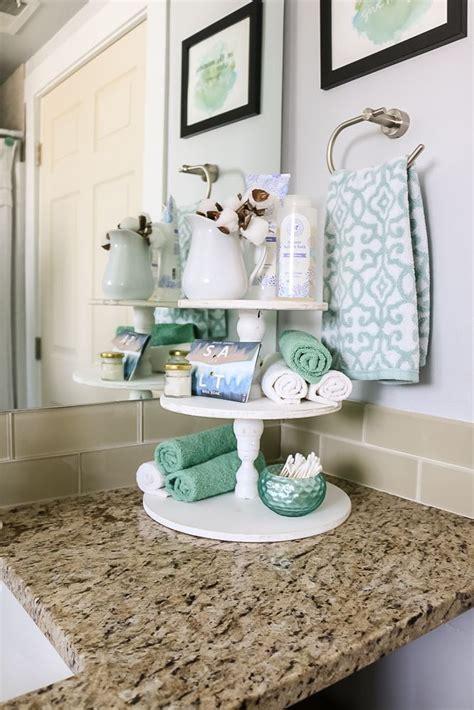 tier stand  bathroom countertop storage bathroom