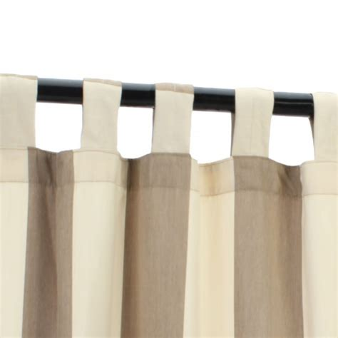 regency sand sunbrella outdoor curtain with tabs on sale