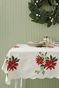 vintage christmas tablecloths and linens collecting With christmas tablecloths and runners