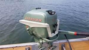 1955 Johnson Cd-12 5 5hp Outboard Motor Lake Run