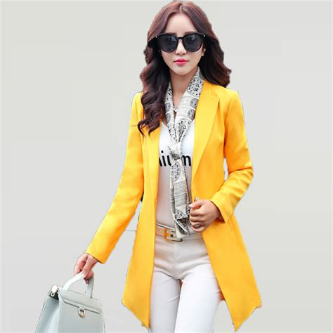 cropped button jacket womens bright colored blazers fashion ql