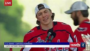 Capitals Forward T.J. Oshie speaks to fans at Victory ...