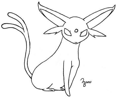 Pokemon: Espeon Lined by lazy bing on DeviantArt