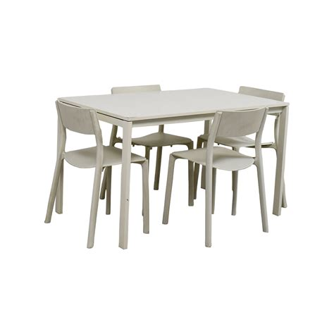 65% Off  Ikea Ikea White Kitchen Table And Chairs Tables