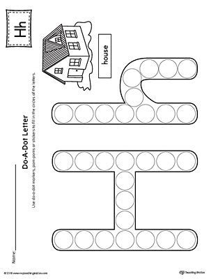 letter    dot worksheet letter  worksheets