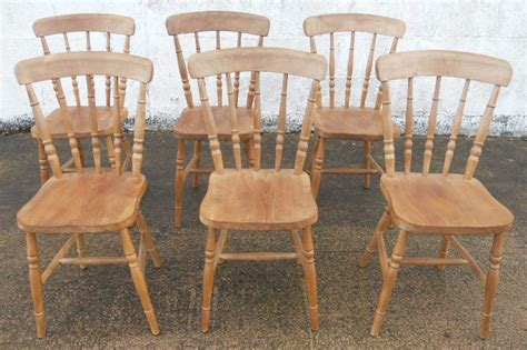 sold set of six antique style beech