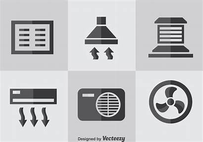 Hvac Vector Icons Flat System Clipart Graphics