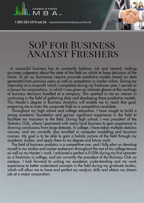 sop  ms  business analytics  freshers