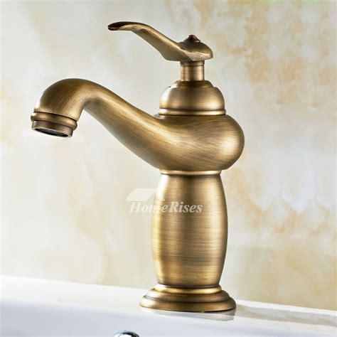 brushed gold bathroom faucet brushed gold bathroom faucet antique brass one single