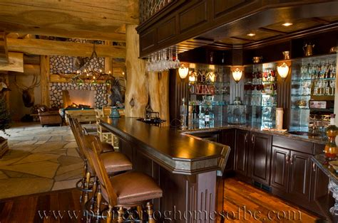 Big Home Bar by Gallery Bars And Rooms Pioneer Log Homes Midwest