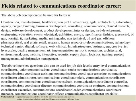 Communication Coordinator by Top 10 Communications Coordinator Questions And