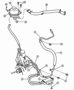 2005 Dodge Grand Caravan Line  Power Steering Pressure