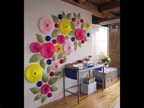 ide hiasan dinding kreatif  kertas