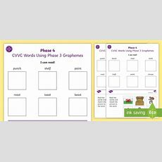 Middle East I Can Read Phase 4 Cvcc Words Using Phase 3 Graphemes Worksheets