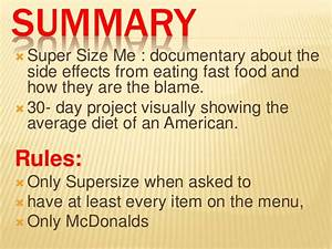 supersize me answers