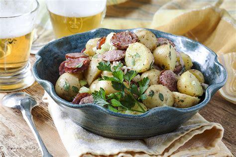 sauge cuisine cafe lynnylu sausage potato salad gromperenzalot