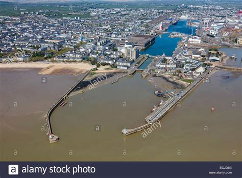 loire atlantique nazaire the town and the port stock photo royalty free image