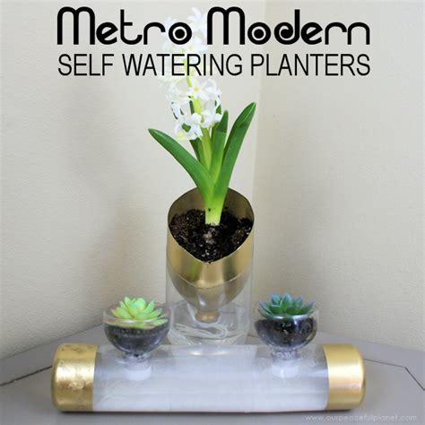 metro modern  watering planters  soda bottles