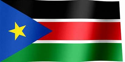 Flag Sudan South Waving Animated Flags Lines
