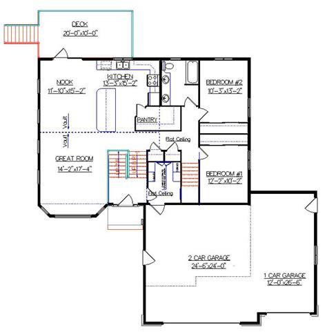 Vaulted Ceiling Open Floor Plans