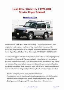 Land Rover Owners Manual Pdf Discovery