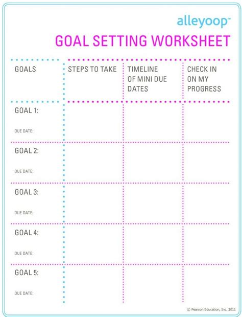 goal printable bing images goal charts goals