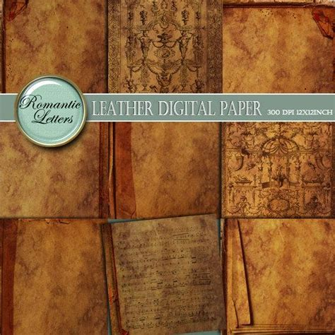 Leather texture Digital scrapbook paper packprintable
