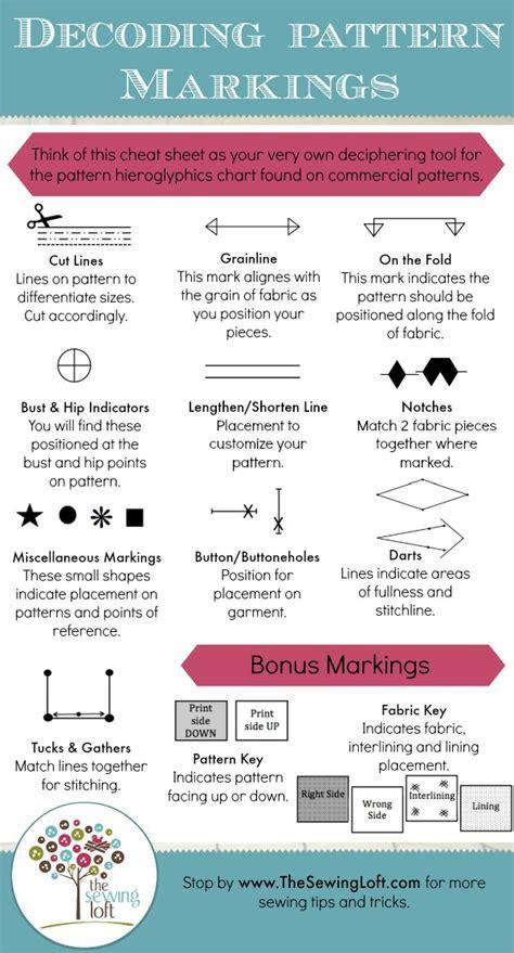 understanding pattern markings the sewing loft