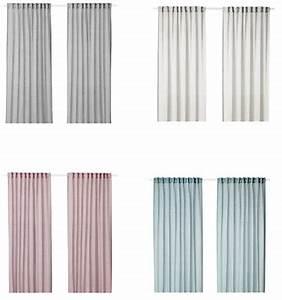 Gardinen Stopper Ikea : ikea hilja vorhang gardine gardinenpaar 2x 145x300 cm ~ Watch28wear.com Haus und Dekorationen