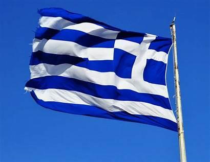 Greece Flag Greek Waving Map Detailed Air