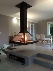Poele Suspendu Design : foyer suspendu po le bois suspendu chemin e centrale murale suspendue photos stove ~ Melissatoandfro.com Idées de Décoration
