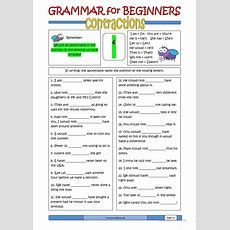 Grammar For Beginners Contractions Worksheet  Free Esl Printable Worksheets Made By Teachers