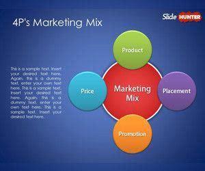 p marketing mix template  powerpoint