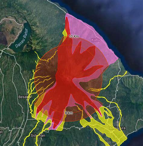 bali volcano evacuation zones  mount agung dangerous
