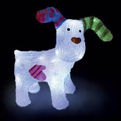 Bright Battery Operated Lights by The Snowdog Figure Led Light Up Christmas Snow Dog Raymond