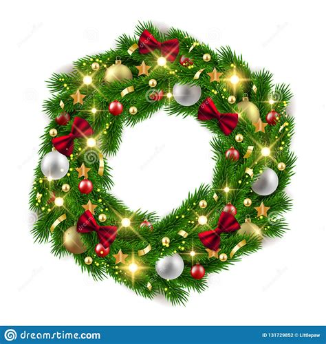 Christmas day and new year both come in winter holidays. Merry Christmas Happy New Year Fir Tree Wreath With ...