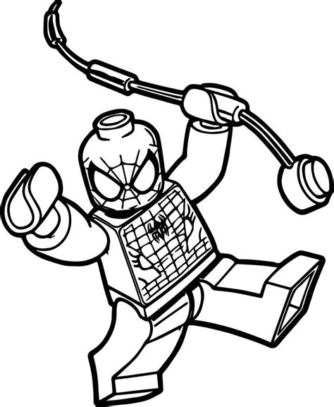 lego spiderman coloring pages  images spiderman