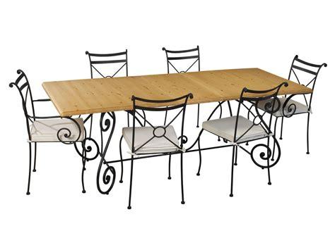 salle a manger fer forge table en fer forg 233 pour salle 224 manger meuble et d 233 coration marseille mobilier design