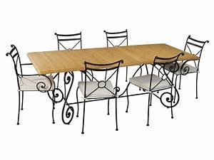 table en fer forge pour salle a manger meuble et With salle À manger en fer forgé pour deco cuisine