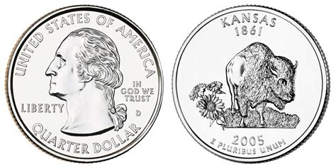 2005 D Kansas State Quarters Value And Prices