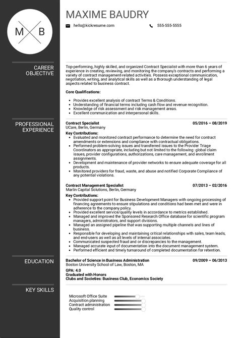 Contract Specialist Resume | louiesportsmouth.com