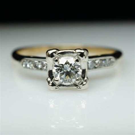 antique illusion setting rings wedding promise
