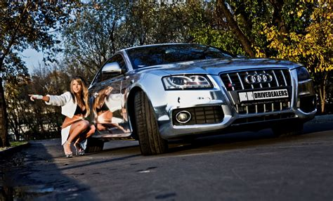 Amazing Girl With Car Photography Wallpaper