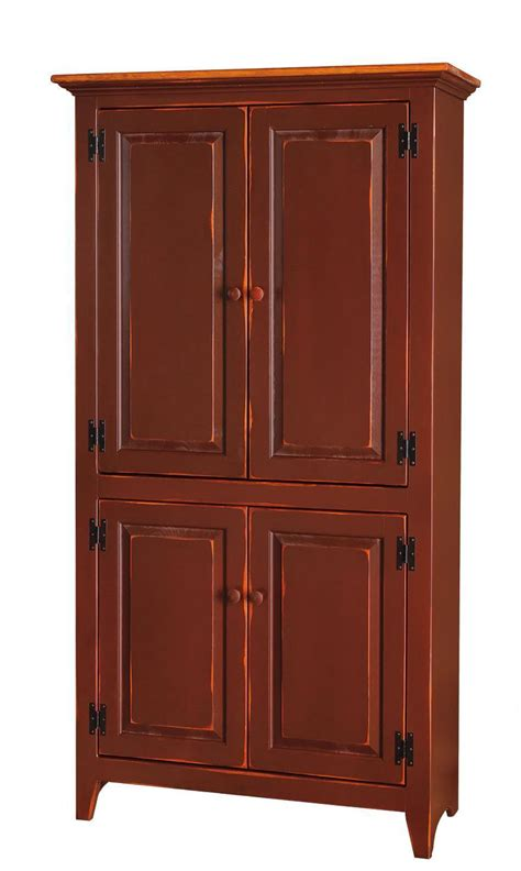 Pine Cupboard Door by Amish Pine 4 Door Pantry Cupboard