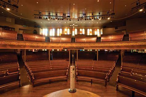 Nashville Ryman Auditorium Artists Stand On Brazilian Teak
