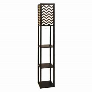 Chevron shelf floor lamp products floor lamps and shelves for Chevron shelf floor lamp